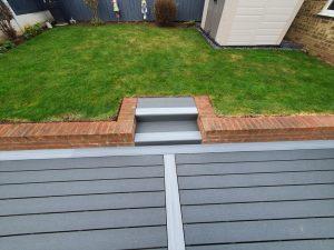 Trex decking steps