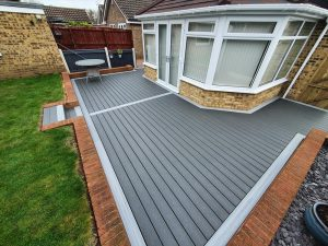 Trex decking outside conservatory