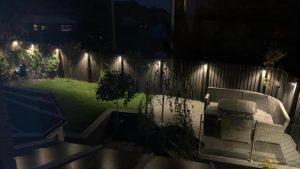 Grey Trex deck at night