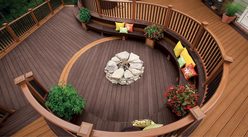 Trex curved deck and railings